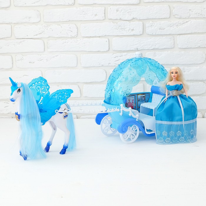 УЦЕНКА Карета для кукол «Волшебная карета» с куклой