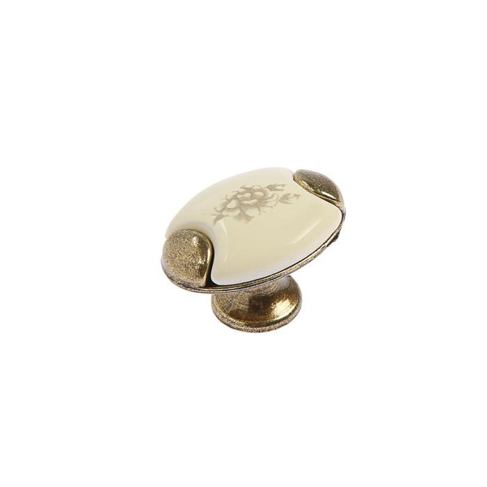 Ручка-кнопка с фарфором KF05-09 - фото 7447698
