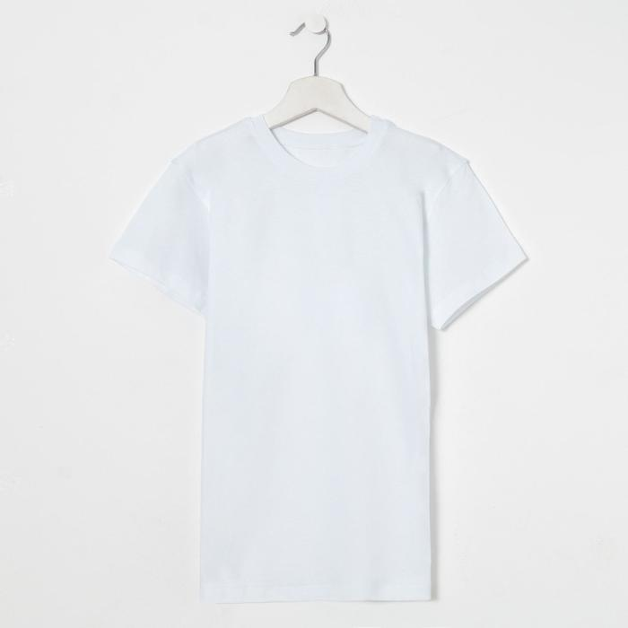 Футболка для мальчика, цвет белый, рост 158 см (76) - фото 105485381