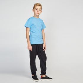 Футболка для мальчика, цвет голубой, рост 146 см (72)