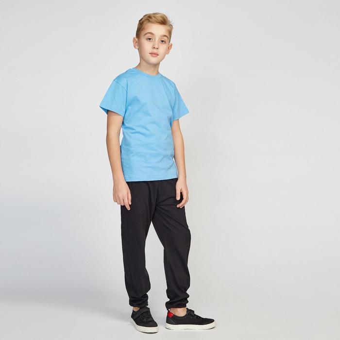 Футболка для мальчика, цвет голубой, рост 158 см (76)