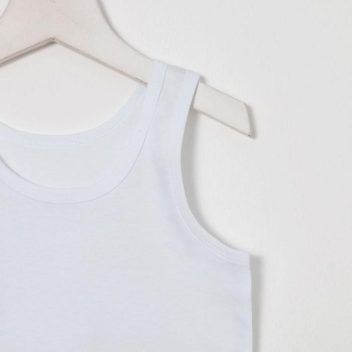 Майка для мальчика, цвет белый, рост 86 см (52) - фото 105710270