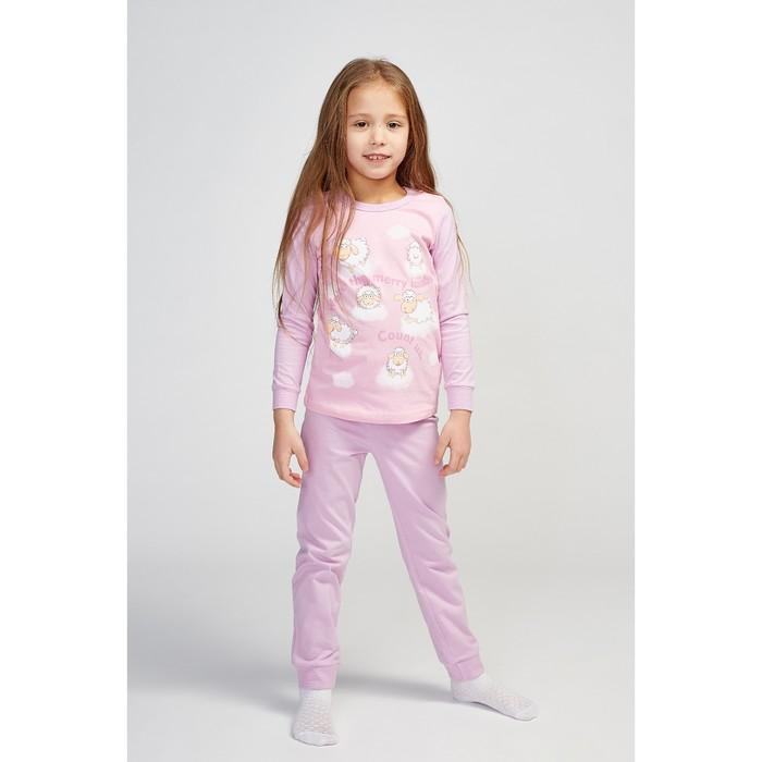 Пижама для девочки, цвет лаванда/розовый, рост 104 см (56)