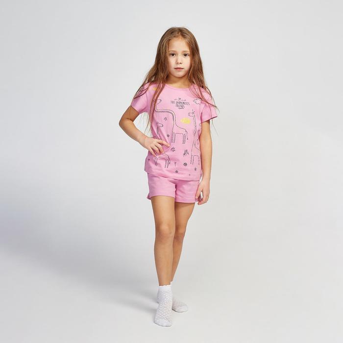 Пижама для девочки, цвет сиреневый, рост 104 см (56)