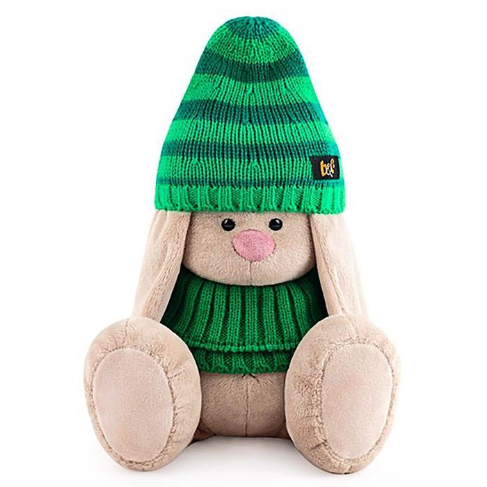 Мягкая игрушка «Зайка Ми в зеленой шапке и снуде», 18 см - фото 4467705