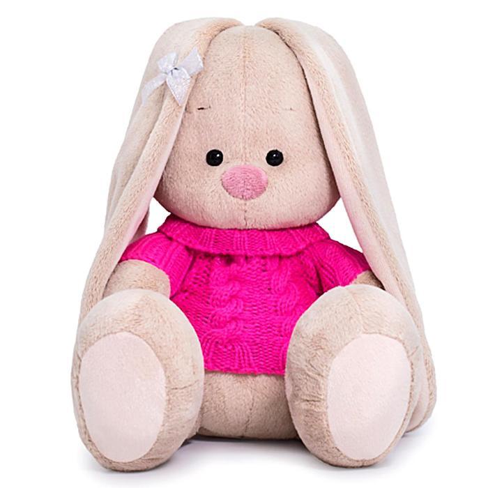 Мягкая игрушка «Зайка Ми в розовом свитере», 18 см - фото 105616047