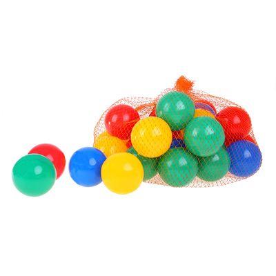 Шарики для бассейна 30 штук в сетке, диаметр шара 7см, цвета МИКС
