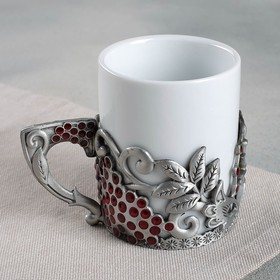 "Mug with metal decor, ""Beloved grandmother"", 200 ml"