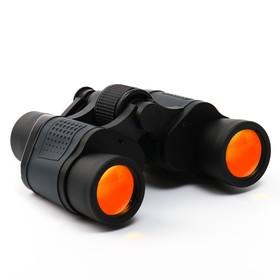 Бинокль 10х40, Мастер К. черный, прорезиненные вставки - фото 2141679