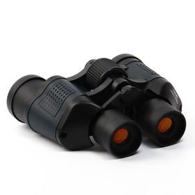 Бинокль 10х40, Мастер К. черный, прорезиненные вставки - фото 2141681