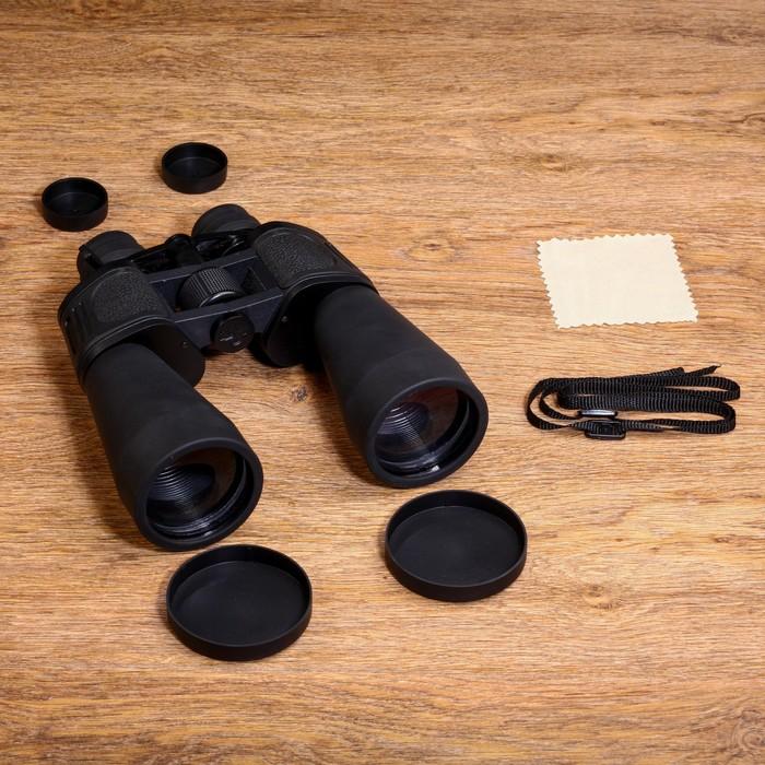 Бинокль 10-30х60, Мастер К. с регулируемым зумом 10-30, черный, линзы рубин