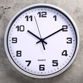 Wall clock, series: Classic, kamas d=30 cm, a discrete course