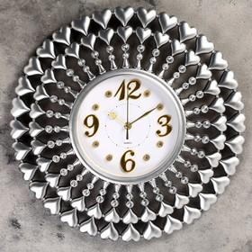 "Wall clock, series: Interior, ""Dolneni"", d=49 cm, discrete course"