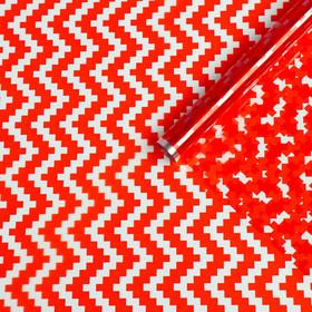 "Film for flowers ""Chevron red"", 0,72 x 7.5 m, 40 µm, 200 gr"