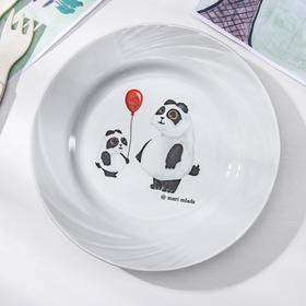 Тарелка мелкая «Панда», d=17,5 см