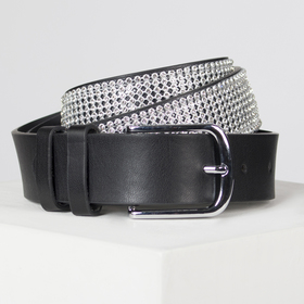Strap wives 07-01-02-01, 4*0,3*115 buckle silver rhinestones black