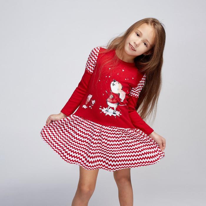 Платье «Микки», цвет красный, рост 104 см