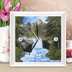 Картина по номерам - часы «Водопад», 30х30 см
