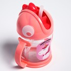 Поильник с силиконовой трубочкой, 200 мл., цвет розовый - фото 105489629