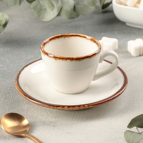 "Coffee steam ""Gleam"" Cup 75 ml, saucer 12 cm"