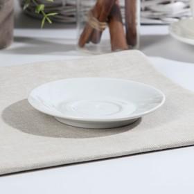 Блюдце «Бельё. Голубка», d=11,5 см, цвет белый