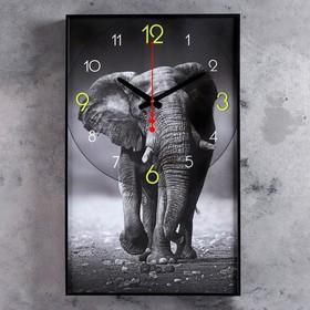 """Часы настенные, серия: Животные, """"Джамбо"""", 57х35х4 см"""