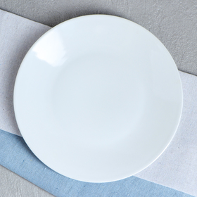 "Тарелка ""Калифорния"", цвет белый, фарфор, 21 см"