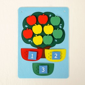 Развивающий планшет «Дерево с корзинами» 3 цифры