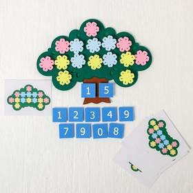 Развивающая игра «Дерево с цветочками»