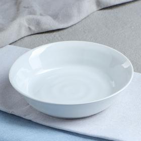 "Миска ""Капля"", цвет белый, фарфор, 350 мл"