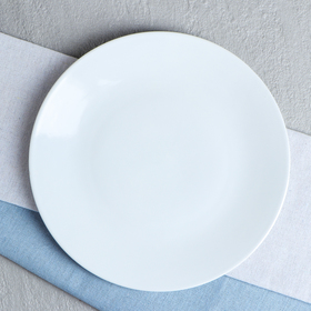 "Тарелка ""Калифорния"", цвет белый, фарфор, 23 см"