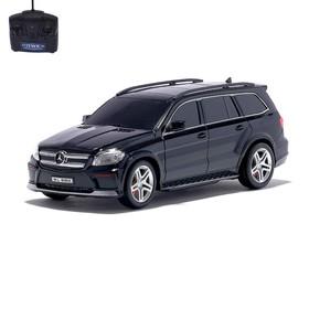 """Машина радиоуправляемая """"Mercedes-Benz GL550"""", масштаб 1:24, работает от батареек, световые эффекты, цвет чёрный"""