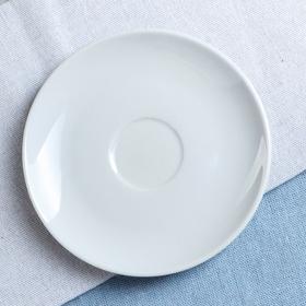 """Блюдце """"Удачное"""", цвет белый, фарфор, 12 см"""