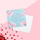 "Card-mini ""Oh my heart"", 7 x 7 cm"