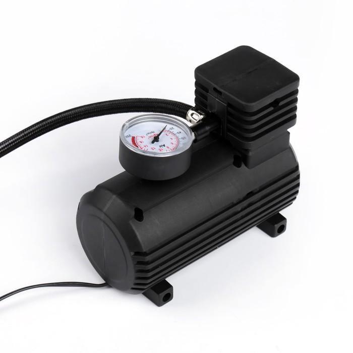 УЦЕНКА Компрессор автомобильный, 10 А, 15 л/мин, провод 260 см, шланг 45 см, чёрный