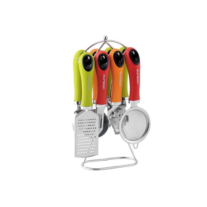 Набор кухонных принадлежностей из 7-ми предметов на подставке