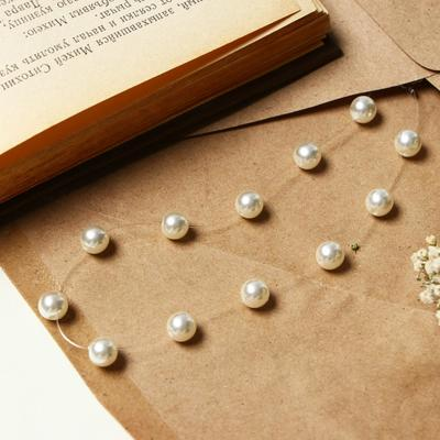 "The beads on the fishing line ""Pearl"", the ball number 8 color milk in silver, 30cm"