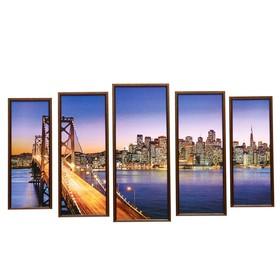 """Модульная картина """"Мост""""  23х59-1шт, 20х53-2шт, 18х47-2шт, 60х100 см"""