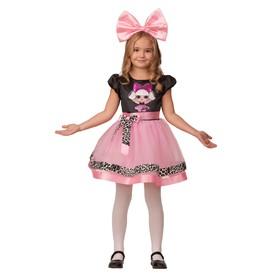 Карнавальный костюм «Прекрасная дива», платье, ободок с бантом, р. 26, рост 104 см