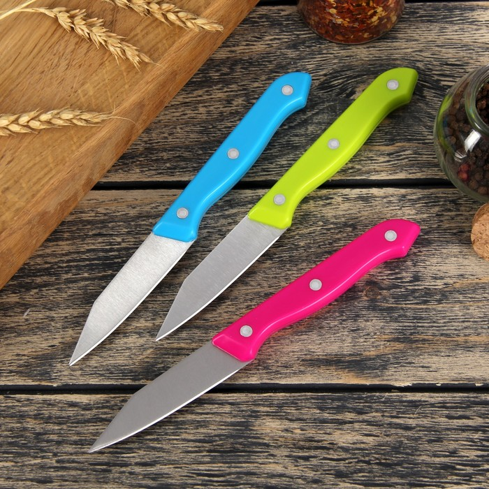 """Нож """"Палитра"""" лезвие 8 см, цвета МИКС"""