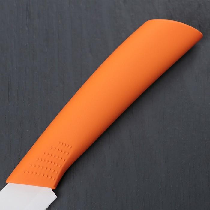 """Нож керамический """"Симпл"""" лезвие 8 см, ручка soft touch, цвета МИКС"""