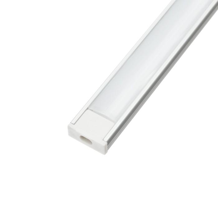 Алюминиевый профиль TDM 1506, накладной, 2 м, матовый рассеиватель, 2 загл., 4 креп