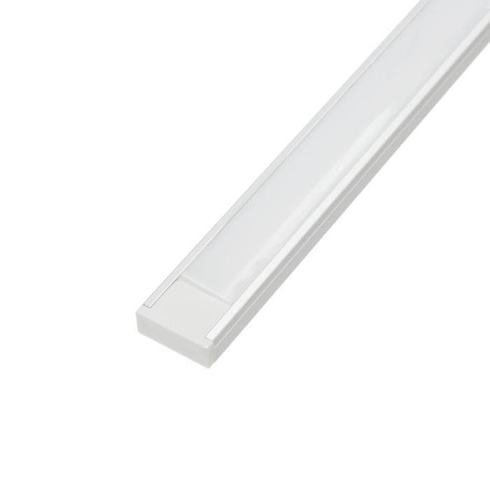 Алюминиевый профиль TDM 1506, накладной, 1 м, матовый рассеиватель, 2 заглушки, 2 крепежа
