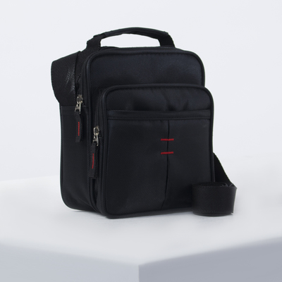 Bag husband Kirya, 17*8*18, otd zipper, 2 n/ pockets, long strap, black