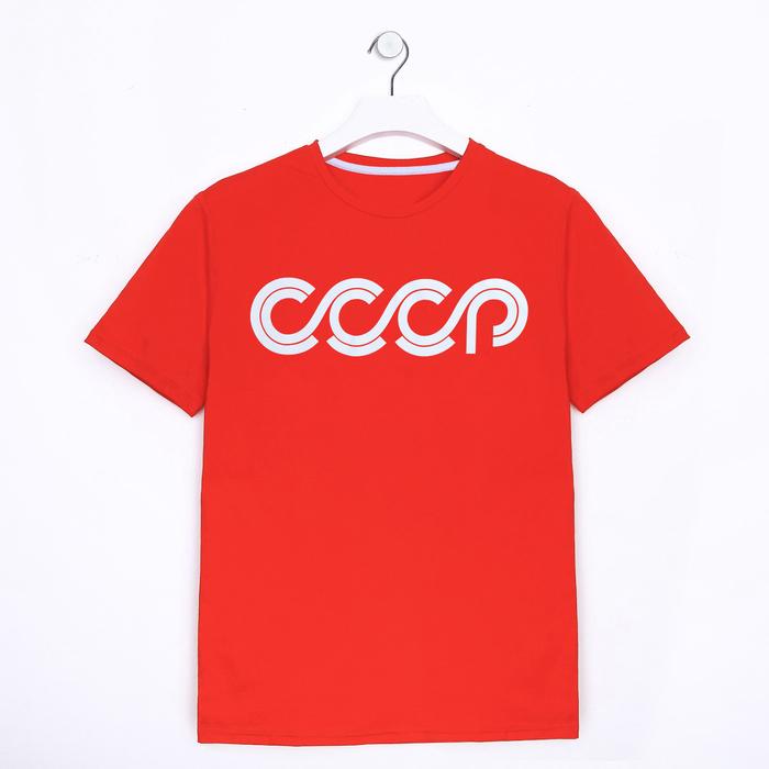 Футболка «СССР», р. 2XL (54), цвет красный