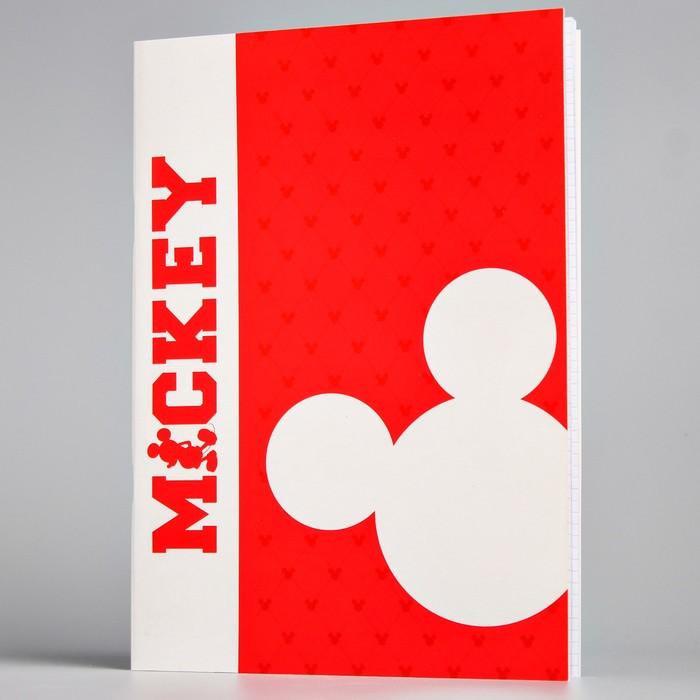 Тетрадь «Микки», Микки Маус, А4, 48 листов, клетка