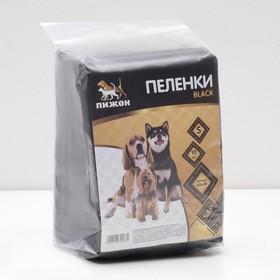 """Пеленки впитывающие """"Пижон Black"""" для животных, гелевые, 60 х 40 см, 10 шт"""