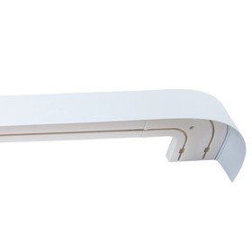 Карниз двухрядный «Ультракомпакт Классик», ширина 220 см, декоративная планка 7 см, цвет белый