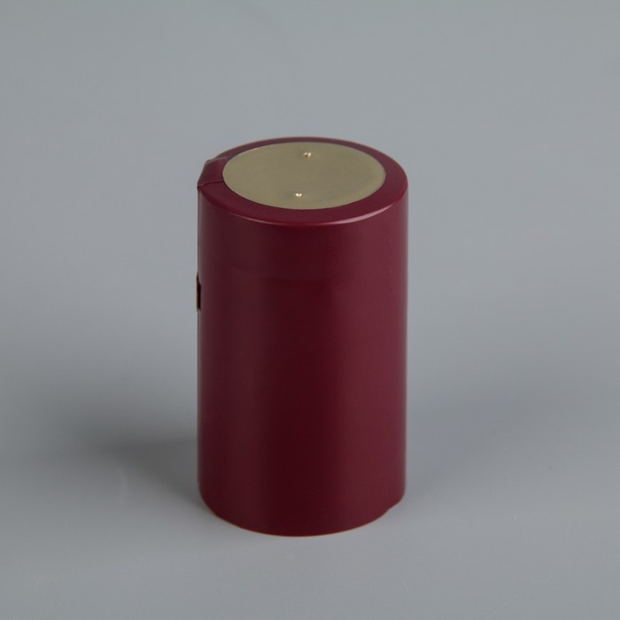 Термоусадочный колпачок 30×50, бордовый с топ диском
