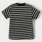 "Футболка Крошка Я ""Black&white"", серый/чёрный, р.26, рост 74-80 см - фото 105573713"